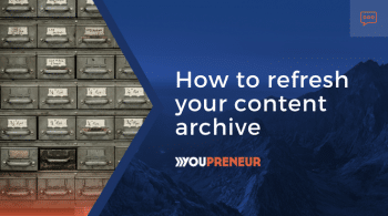 How to refresh your content archive