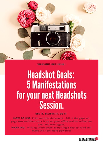 5 headshot manifestations by Laura Pearman