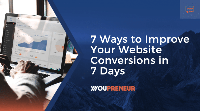 7 Ways to Improve Your Website Conversions in 7 Days
