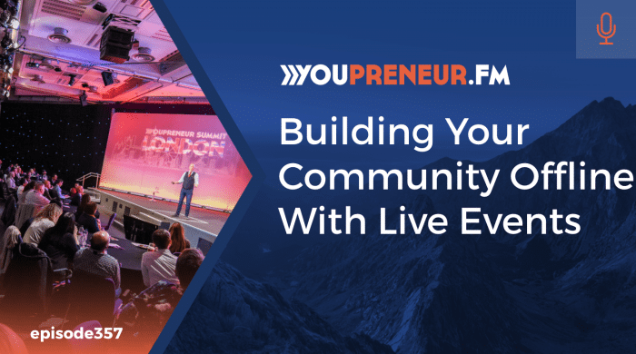 Building Your Community Offline with Live Events