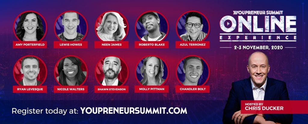 Youpreneur Summit Online Experience Speaker Line-Up